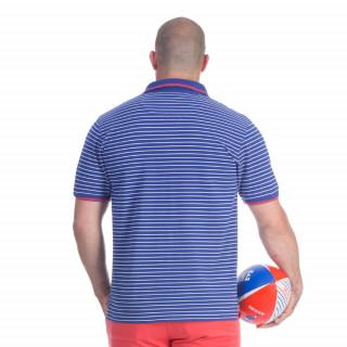 Polo à rayure bleu rugby