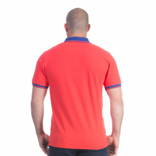 Polo rouge Rugby marine