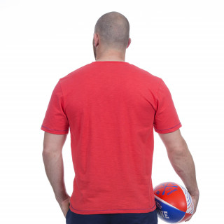 T-shirt rouge rugby marine