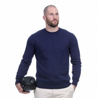 Pull manches longues à col rond bleu marine du thème Rugby essentiel