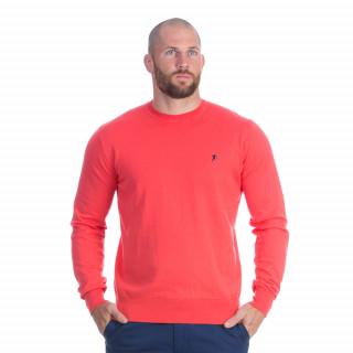 Pull manches longues à col rond rouge du thème Rugby essentiel