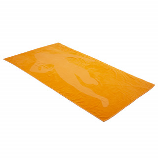 Drap de plage orange imprimé
