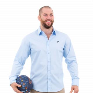 Chemise homme manches longues bleu ciel