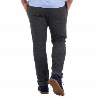 Pantalon chino gris chiné homme