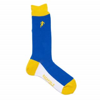 Chaussettes de rugby homme jaune et bleu
