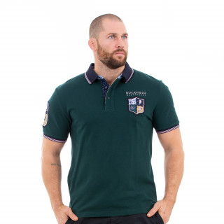 Polo manches courtes homme vert foncé we are rugby