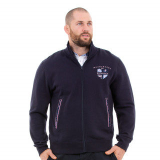 Sweat zippé homme marine we are rugby