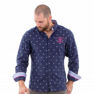 Chemise manches longues marine maison de rugby