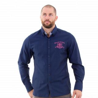 Chemise manches longues du thème maison de rugby pour homme.