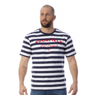 T-shirt marinière bleu 100% coton bio.