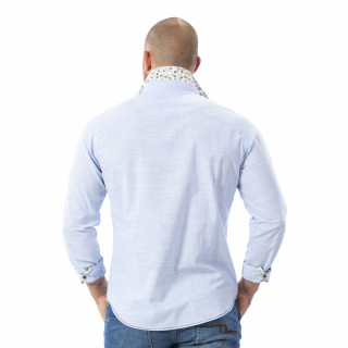 Chemise bleu clair rugby
