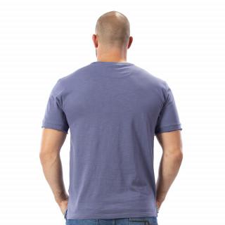 T-shirt gris boutons bois