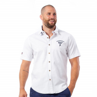 Chemise blanche beach rugby en coton.