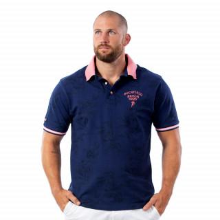 Polo beach rugby bleu en coton.