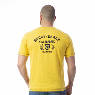T-shirt jaune rugby