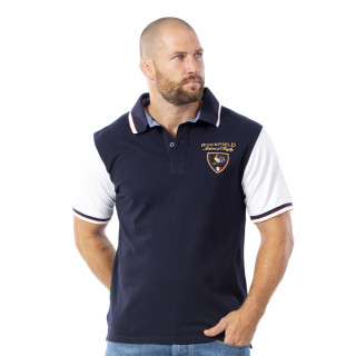Polo Bicolore French Rugby 100% coton piqué.