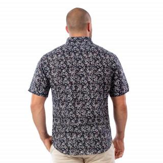 Chemise à manches courtes fleuries