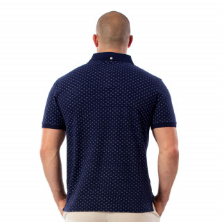 Polo à motifs bleu