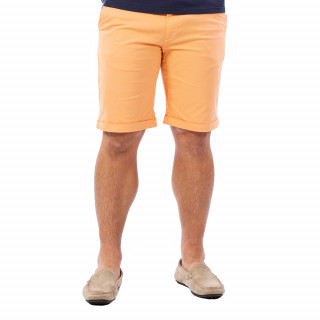 Bermuda homme chino orange en coton.