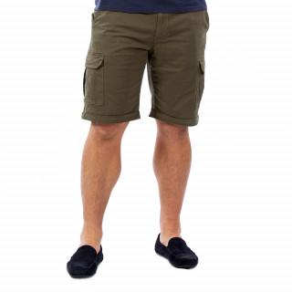 Bermuda homme cargo kaki en coton.