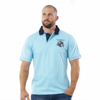 Polo turquoise We are rugby en coton jersey.