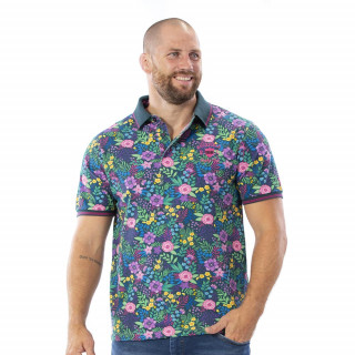 Polo tropical 100% coton piqué.