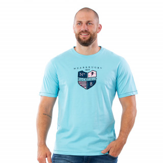 T-shirt turquoise We are rugby 100% coton jersey.
