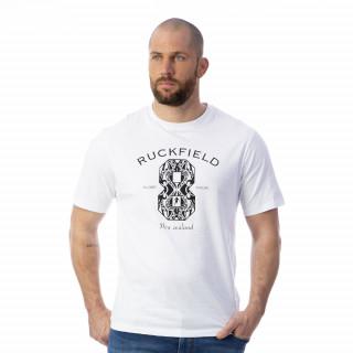 T-shirt blanc rugby maori 100% coton jersey.