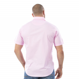 Chemise rose à manches courtes Rugby Essentiel