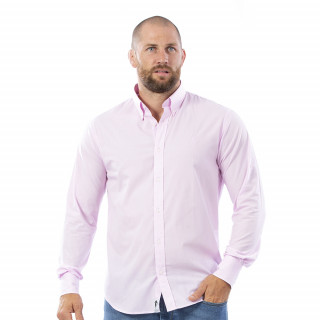Chemise rose à manches longues Rugby