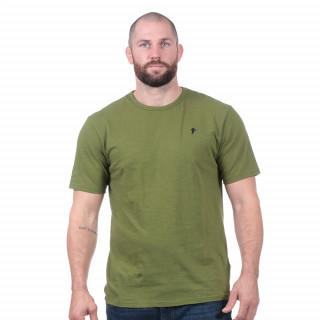 T-shirt basique vert forêt 100% coton bio