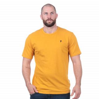 T-shirt basique moutarde 100% coton bio
