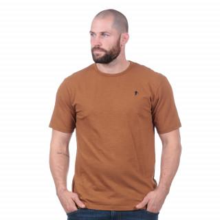 T-shirt basique marron 100% coton bio.