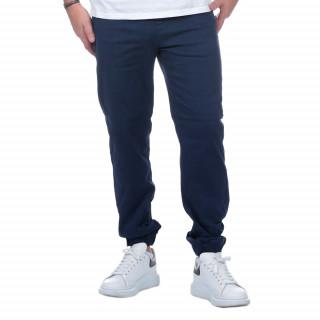 Pantalon cargo bleu marine en coton.