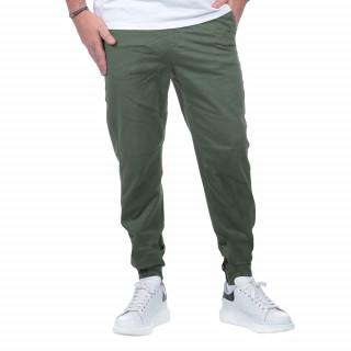 Pantalon cargo kaki en coton.