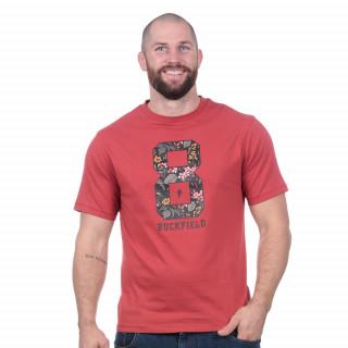 T-shirt à manches courtes rouille Rugby d'Automne