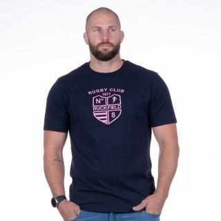 T-shirt Rugby club Marine en coton jersey