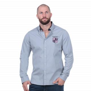 Chemise à manches longues grise Rugby Club en élasthanne.