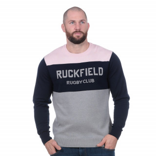 Pull rugby club gris clair logo ruckfield