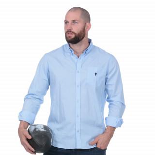 Chemise rugby essentiel bleu 100% coton.