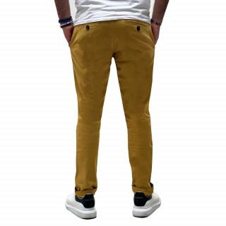 Pantalon chino essentiels moutarde