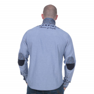 Chemise chambray flowers of rugby manches longues