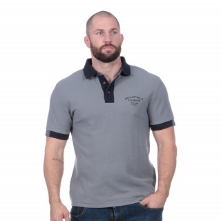 Polo manche courtes flowers of rugby gris clair