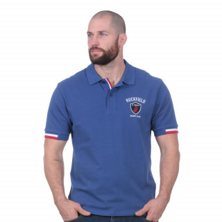 Polo manches courtes French rugby club bleu