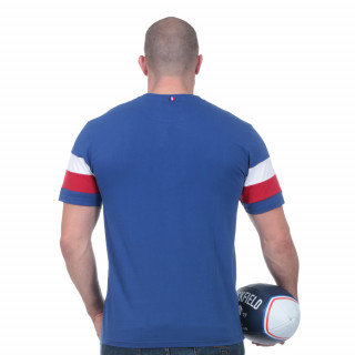 Tee-shirt manches courtes french rugby club bleu