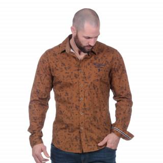 Chemise manches longues Héritage vintage marron