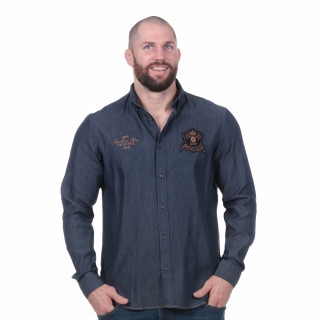 Chemise jean manches longues rugby héritage