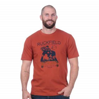 Tee-shirt manches courtes rugby héritage orange