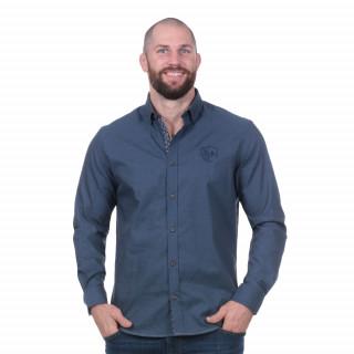 Chemise manches longues rugby élégance bleu
