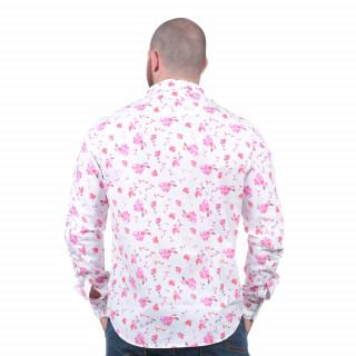 Chemise manches longues imprimée à fleurs